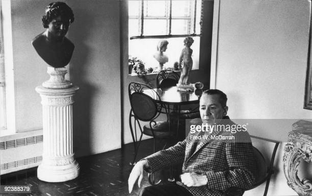Portrait of American artist William Baziotes as he sits in his Manhattan apartment New York New York February 17 1962