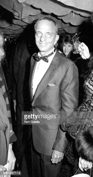 Portrait of American attorney Roy Cohn as he attends a New Year's Eve Party at Regine's nightclub, New York, New York, December 31, 1984.