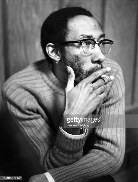 Portrait of American author academic and Civil Rights activist Julius Lester as he smokes a cigarette Amherst Massachusetts April 1973