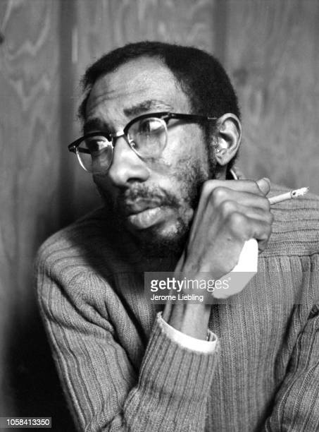 Portrait of American author academic and Civil Rights activist Julius Lester as he holds a cigarette in one hand Amherst Massachusetts April 1973