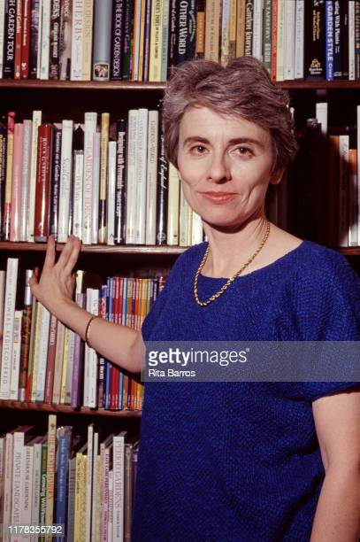 Portrait of American author and critic Camille Paglia, New York, New York, February 18, 1993.
