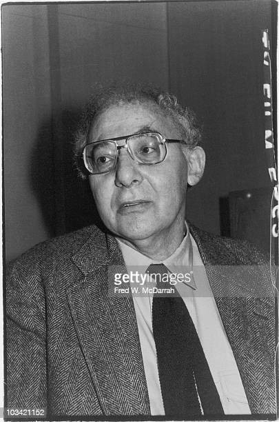 Portrait of American author and critic Stanley Elkin as he attends the Book Critic Awards New York New York January 27 1983