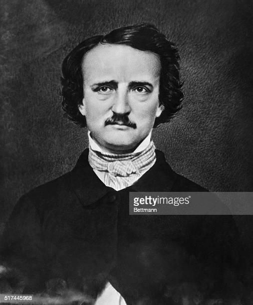 Portrait of American author Edgar Allan Poe Undated illustration after a photo by Matthew Brady