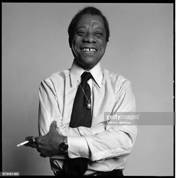 Portrait of American author James Baldwin New York New York 1975
