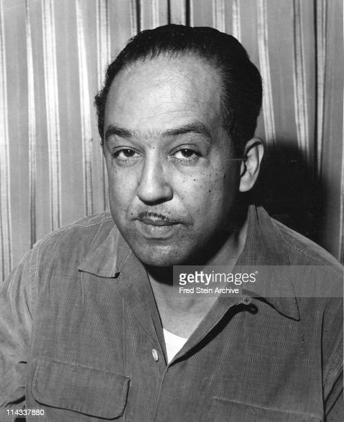Portrait of American author Langston Hughes , 1954.