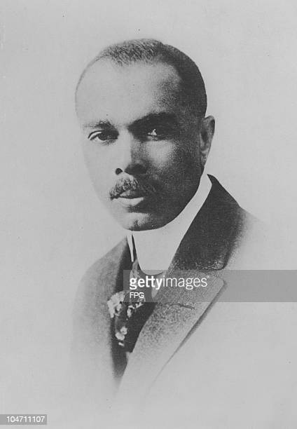 A portrait of American author politician diplomat critic journalist poet anthologist educator lawyer songwriter and early civil rights activist James...