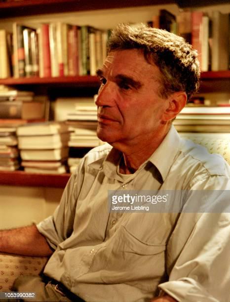 Portrait of American author psychiatrist and professor emeritus at Harvard University Robert Coles as he sits in an office Cambridge Massachusetts...