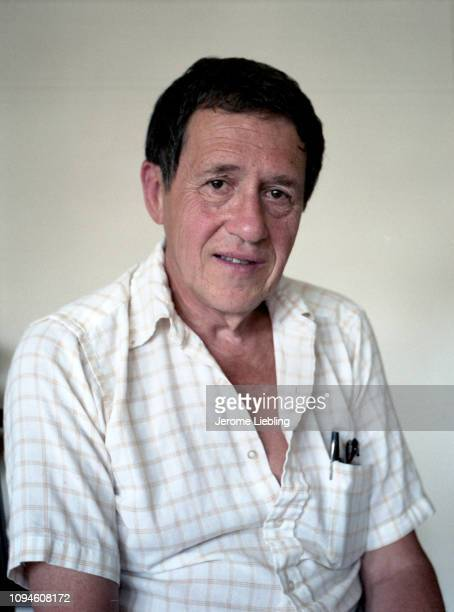 Portrait of American author scholar and former Massachusetts Institute of Technology professor Leo Marx as he sits in a chair Boston Massachusetts...