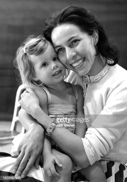 Portrait of American Ballet Theater principal dancer Maria Tallchief and her daughter, Elise Paschen, 1961.