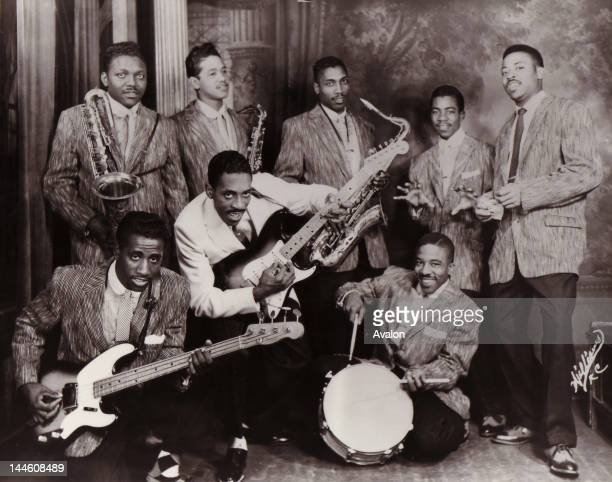 Portrait of American band Ike Turner's Kings Of Rhythm photographed in America in 1956 Job 77815 Ref DAL UK Exclusive Rights Only