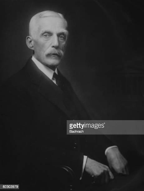 Portrait of American banker philanthropist and 49th United States Secretary of the Treasury Andrew Mellon Washington DC 1928