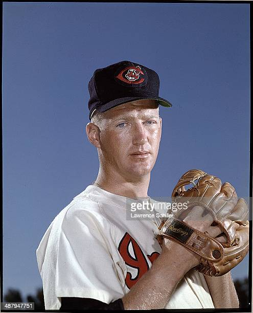 Portrait of American baseball player Herb Score pitcher for the Cleveland Indians 1958
