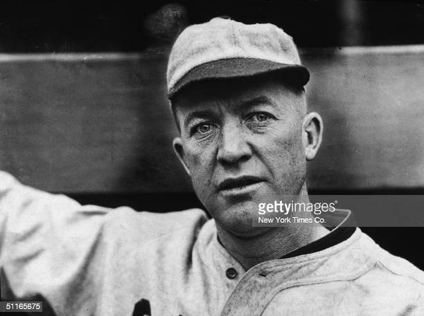 Portrait of American baseball player Pete Alexander in his St Louis Cardinals uniform shortly after being traded from the Chicago Cubs late 1926