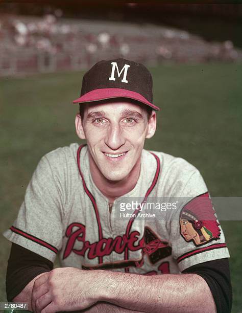 Portrait of American baseball player Warren Spahn pitcher for the Milwaukee Braves circa 1958