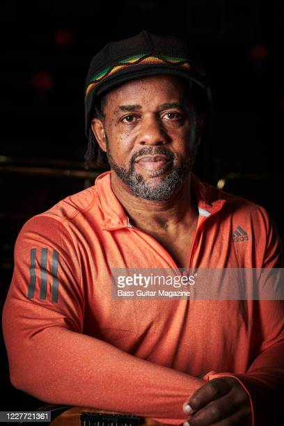 Portrait of American bass guitar virtuoso Victor Wooten, photographed before a live performance at Ronnie Scott's Jazz Club in London, on Novemebr...