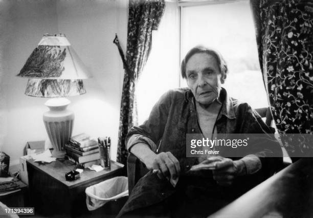 Portrait of American Beat author Herbert Huncke in his room at the Chelsea Hotel New York New York 1995