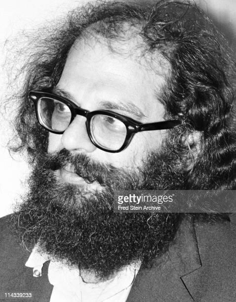Portrait of American Beat poet Allen Ginsberg 1966
