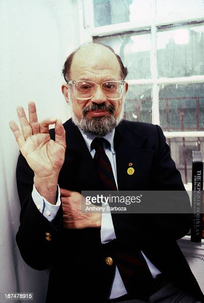 Portrait of American Beat poet Allen Ginsberg New York New York 1987