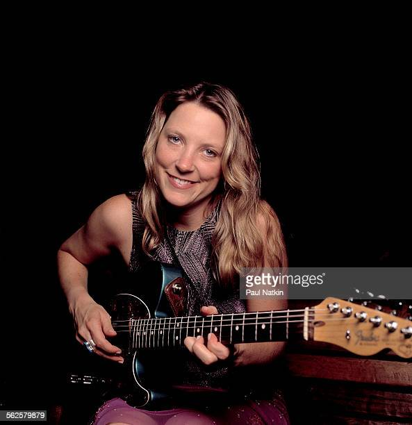 Portrait of American Blues musician Susan Tedeschi as she poses with her guitar Chicago Illinois September 3 2000