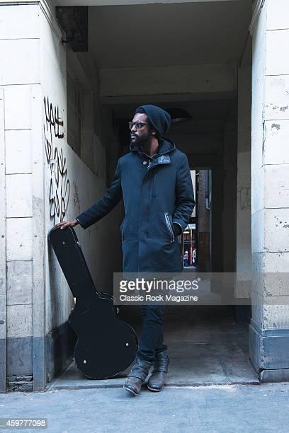 Portrait of American blues rock musician Gary Clark Jr photographed in London on February 27 2013