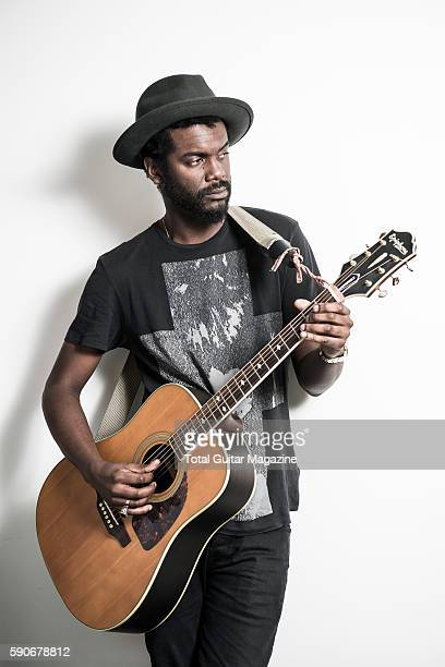 Portrait of American blues rock musician Gary Clark Jr photographed at Warner Records HQ in London on September 3 2015