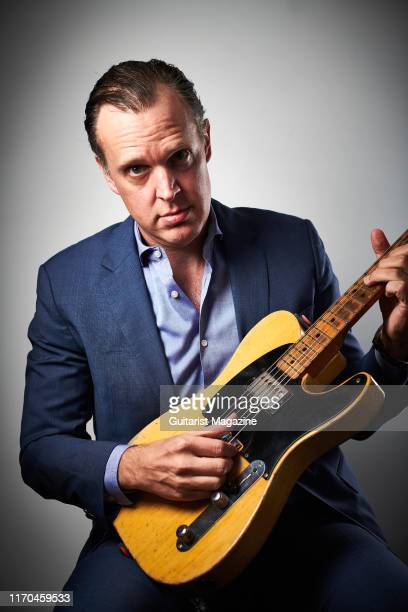 Portrait of American blues rock musician Joe Bonamassa photographed before a live performance at Plymouth Pavilions in Plymouth England on October 11...