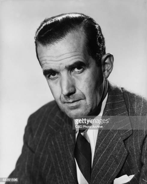 Portrait of American broadcast journalist Edward R Murrow January 14 1953