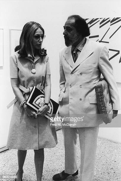 Portrait of American businessman and art collector Robert C Scull and his wife Ethel Scull as they attend an unidentified opening at the Museum of...