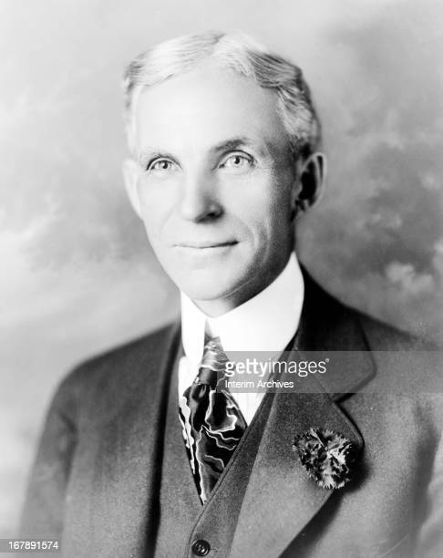 Portrait of American businessman and automobile pioneer Henry Ford circa 1920s