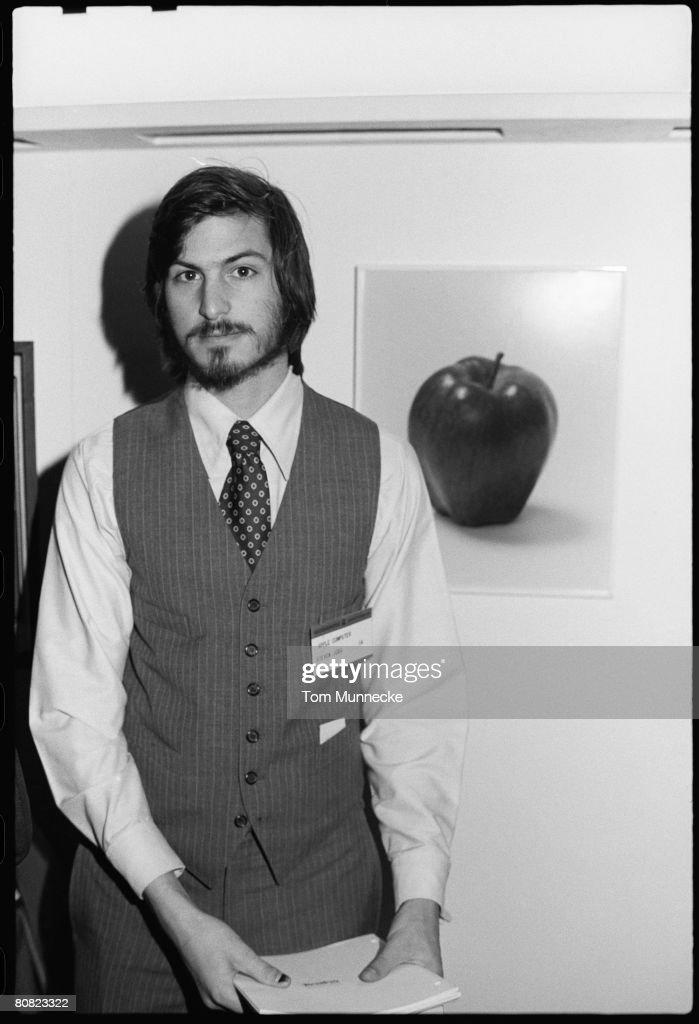 Steve Jobs At The West Coast Computer Faire : News Photo