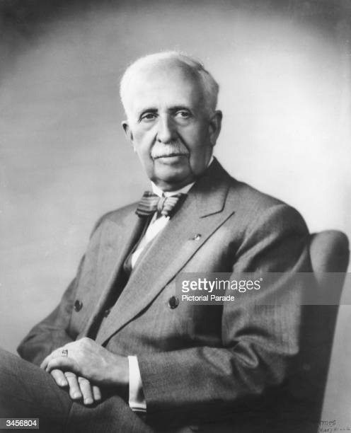 Portrait of American businessman James Cash Penney owner of the JC Penney chain of retail stores 1956