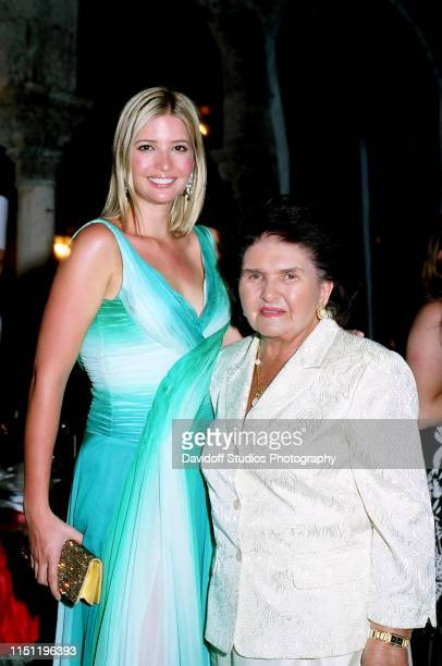 Portrait of American businesswoman Ivanka Trump as she poses with her grandmother Maria Zelnicek at the MaraLago estate Palm Beach Florida March 18...