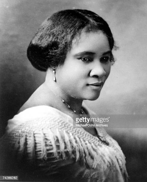 Portrait of American businesswoman, philanthropist, and activist Madam CJ Walker , 1913. She is widely considered the first female, self-made...