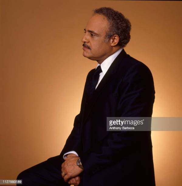 Portrait of American Civil Rights activist and NAACP Executive Director Benjamin Hooks New York 1983