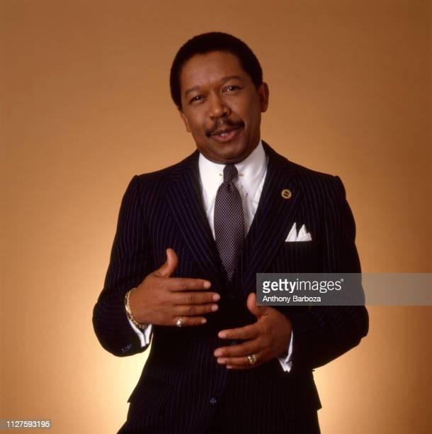 Portrait of American Civil Rights activist and National Urban League President John Edward Jacob New York 1983