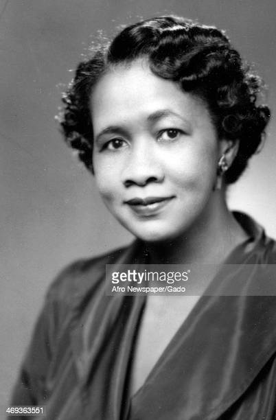 A portrait of Dorothy I Height civil rights activist and president of the National Council of Negro Women 1950