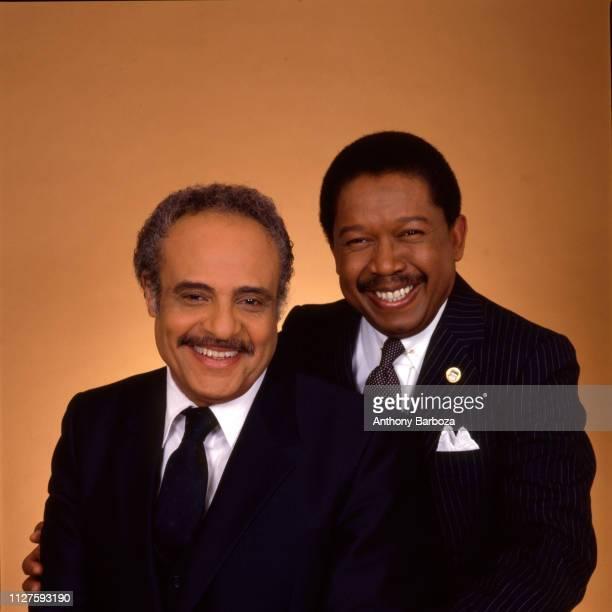 Portrait of American Civil Rights activists NAACP Executive Director Benjamin Hooks and National Urban League President John Edward Jacob New York...