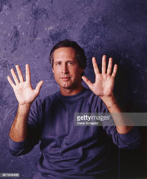 Portrait of American comedian and actor Chevy Chase Los Angeles California 1984