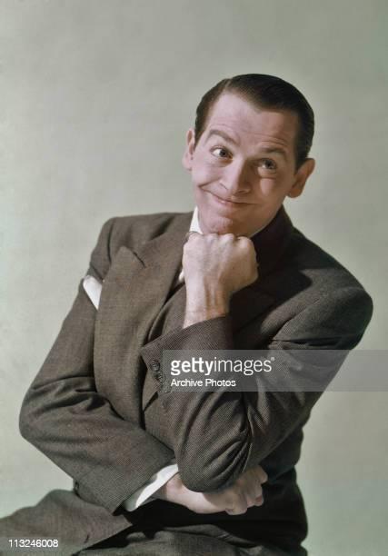 Portrait of American comedian and actor Milton Berle circa 1955.