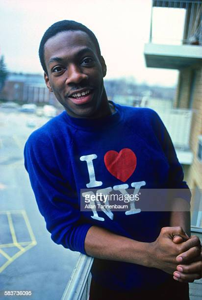 Portrait of American comedian Eddie Murphy at his mother's house Hempstead Long Island New York January 15 1982