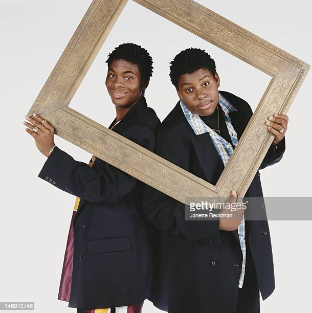 Portrait of American comedians and actors Kel Mitchell Kenan Thompson costars of the sitcom 'Kenan Kel' New York New York 2000