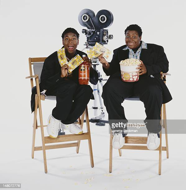 Portrait of American comedians and actors Kel Mitchell Kenan Thompson costars of the sitcom 'Kenan Kel New York New York 2000