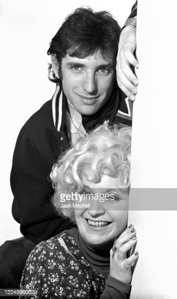 Portrait of American composers, conductor & musician Michael Tilson Thomas and Mezzo-Soprano Cathy Berberian as they pose together prior to a joint...