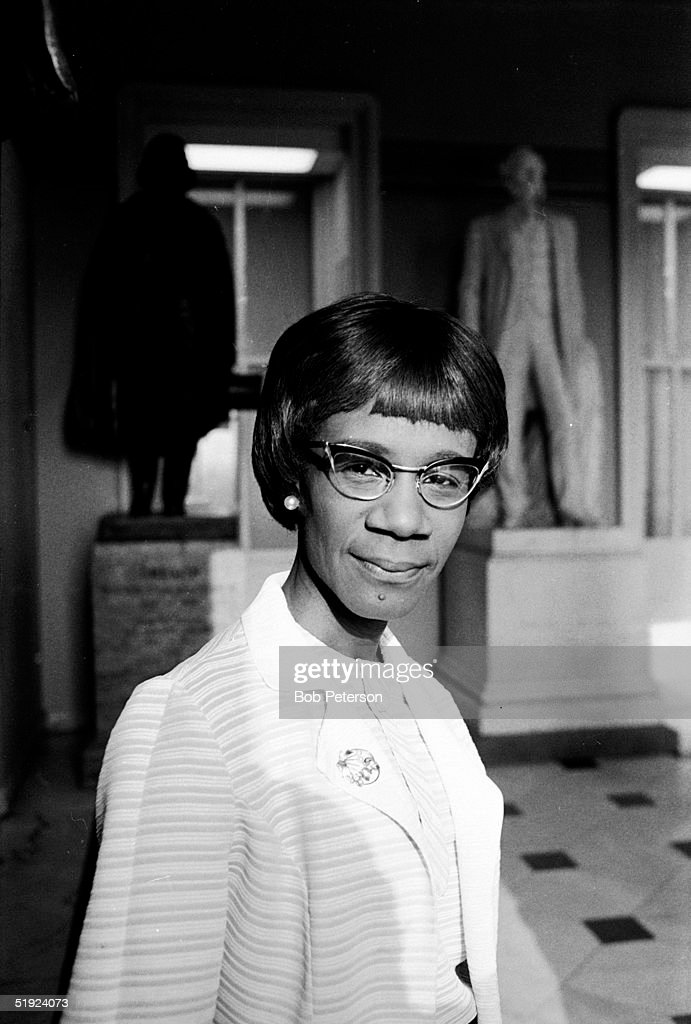 Portrait of American Congresswoman Shirley Chisholm (1924 - 2005) as she stands in rotunda of House of Representatives, Washington DC, 1970.