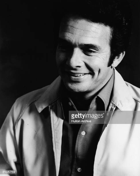 Portrait of American country singer and songwriter Merle Haggard circa 1970