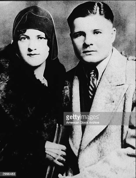Portrait of American criminal bank robber Charles Arthur 'Pretty Boy' Floyd with Beulah Ash circa 1930