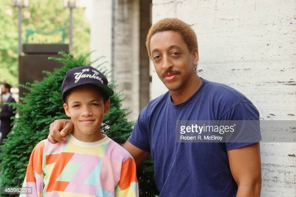Portrait of American dancer dance instructor and actor Gregory Hines with his student dancer Savion Glover New York New York 1988