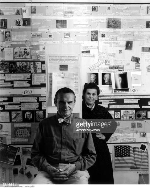 Portrait of American designers Charles and Ray Eames November 16 1974 in Venice California Charles and his wife Ray brought fresh and new visionary...