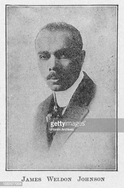 Portrait of American diplomat political activist and poet James Weldon Johnson early twentieth century The image appears in Robert Thomas Kerlin's...