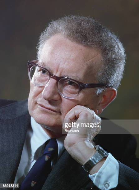 Portrait of American economist Paul Anthony Samuelson . He won the Nobel prize for Economics in 1970. Photo was taken in Boston, 1978.